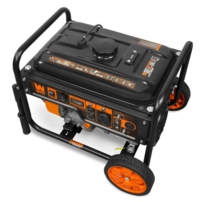 WEN GN6000 6000-Watt RV-Ready Portable Generator with Wheel Kit, CARB Compliant