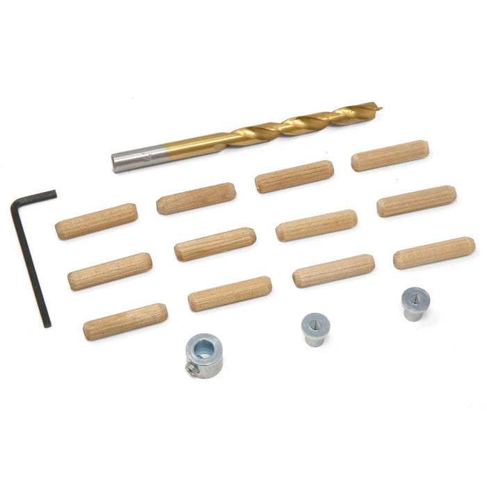 Wen Jn014d 14 Inch Wooden Doweling Kit With Drill Bit Stop Collar And Fluted Birch Wood Dowels