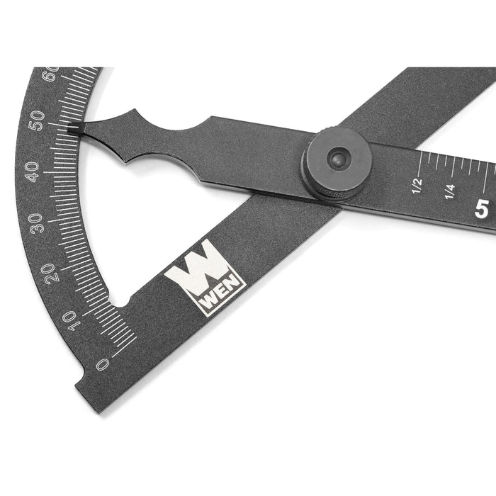WEN ME512P Adjustable Aluminum Protractor and Angle Gauge with Laser Etched Scale