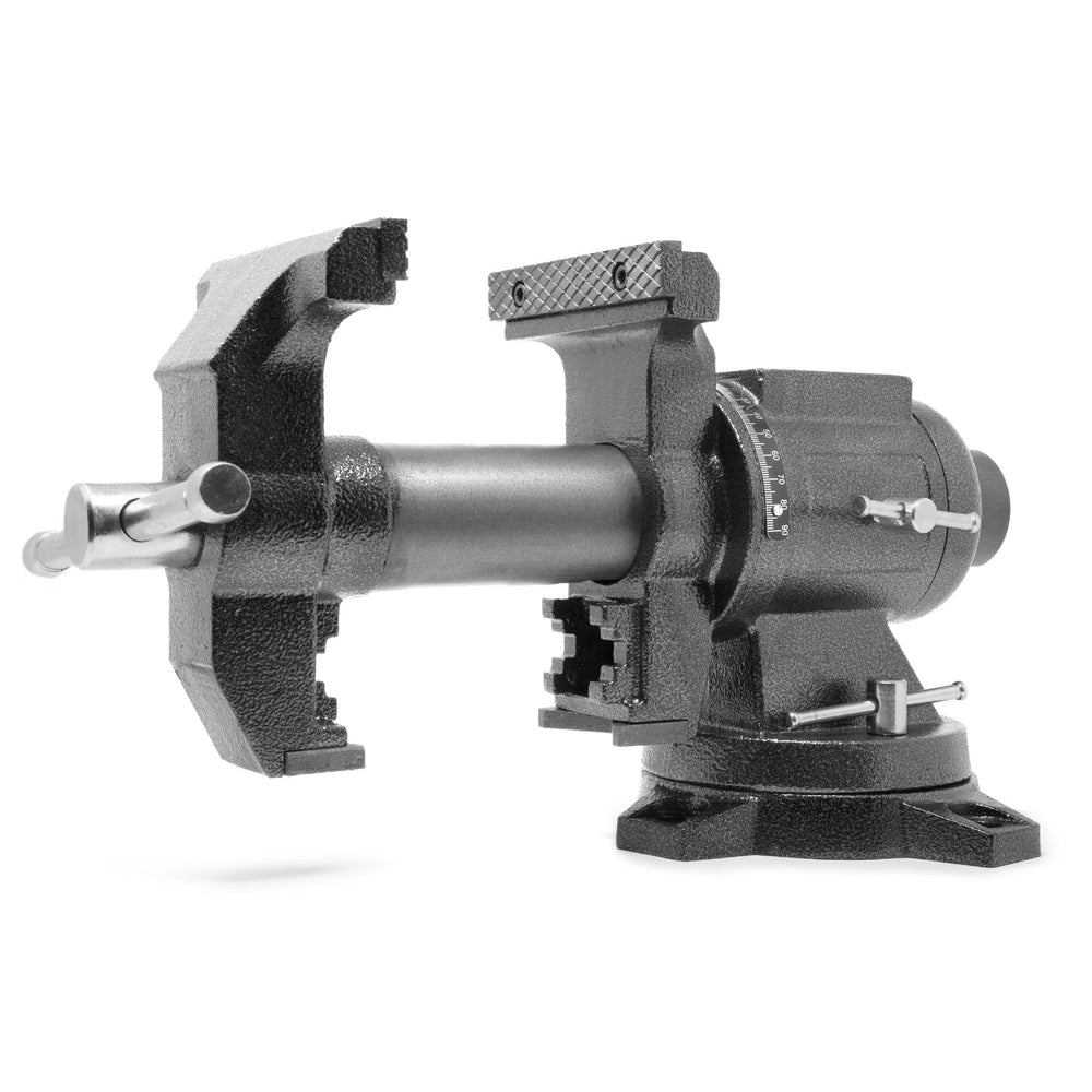 WEN MPV500 5-Inch Heavy-Duty Cast Iron Multi-Purpose Bench Vise with 360-Degree Swivel Base