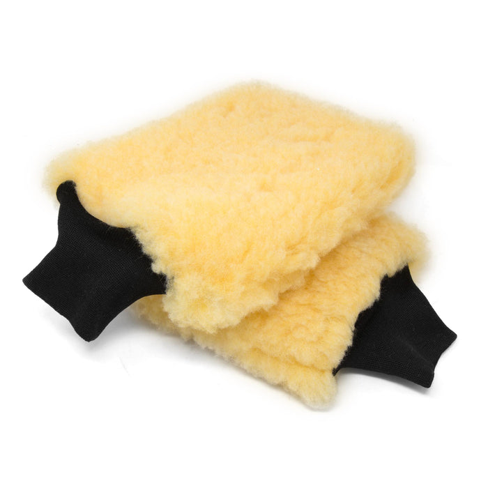 WEN PB002W American-Made Premium Synthetic Wool Car Polishing Wash Mitts, 2 Pack