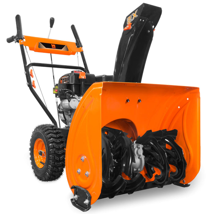 WEN SB24E 24-Inch 212cc Two-Stage Self-Propelled Gas-Powered Snow Blower with Electric Start
