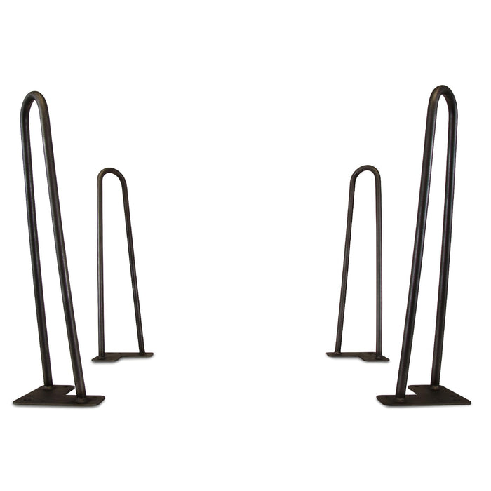 "WEN TL16B 16-Inch Mid-Century Modern Satin Black Hairpin Table Legs, 1/2"" Diameter, Set of 4"