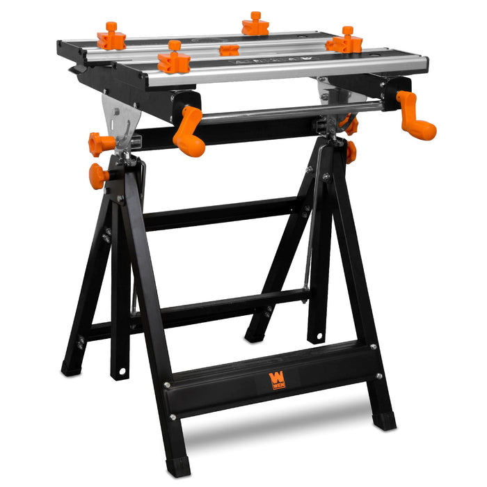 Wondrous Wen Wb2322 24 Inch Height Adjustable Tilting Steel Portable Work Bench And Vise With 8 Sliding Clamps Unemploymentrelief Wooden Chair Designs For Living Room Unemploymentrelieforg