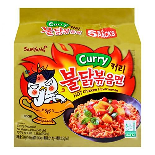 Curry Hot Chicken Flavor Ramen - 5 pack