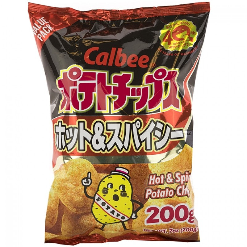 Calbee Potato Chips (Hot & Spicy)