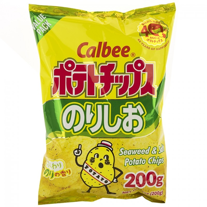 Calbee Potato Chips (Seaweed & Salt)