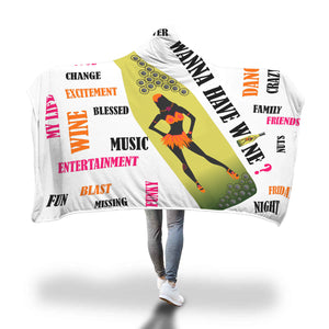 Wanna have wine Hooded blanket - Beelat Sydney