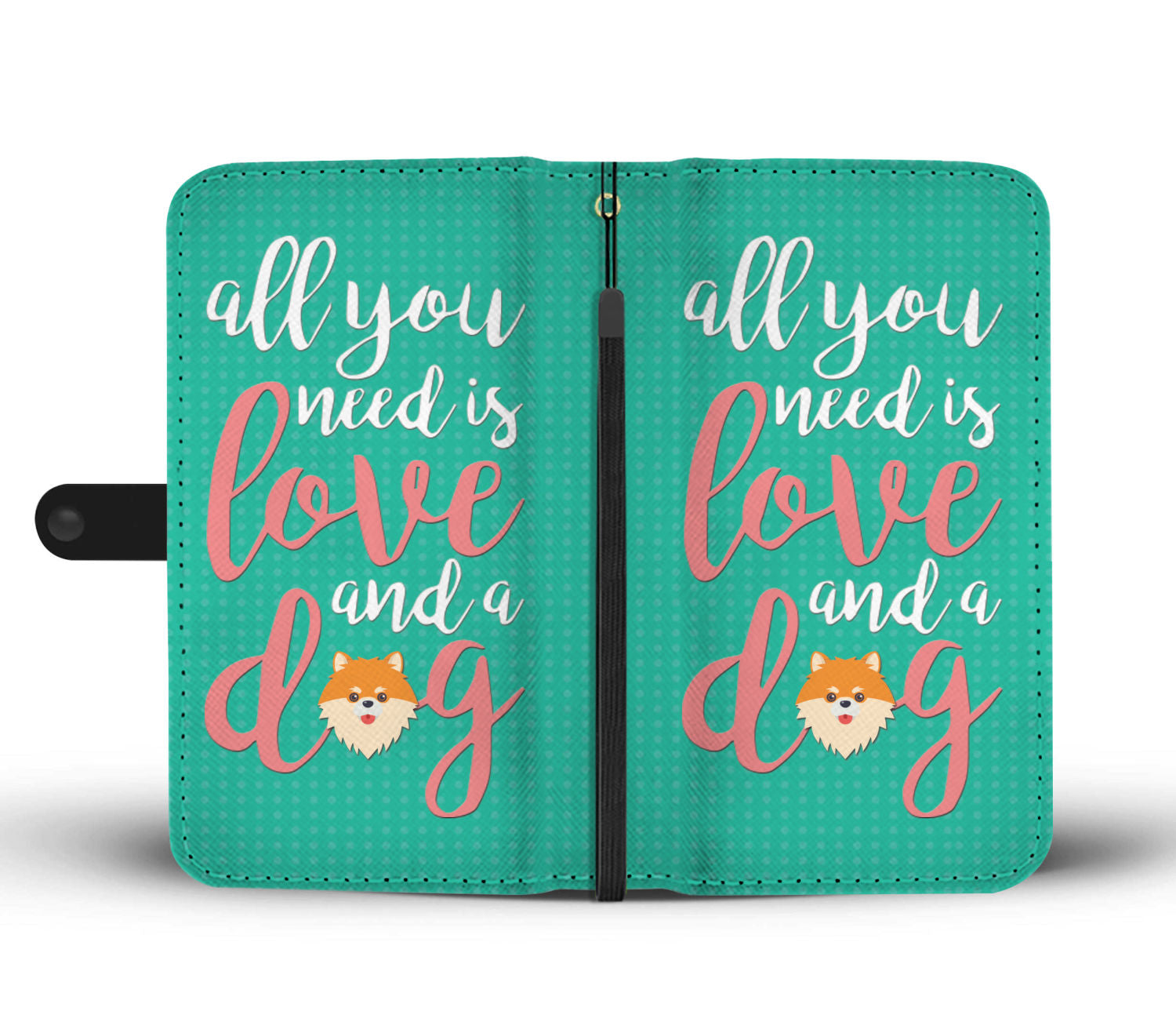 All you need is love and a dog wallet phone case - Beelat Sydney