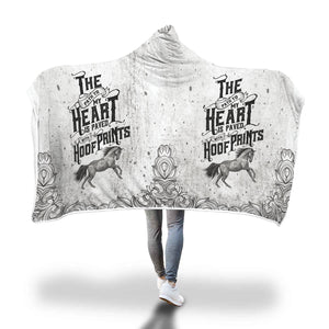 Horse pattern hooded blanket - Beelat Sydney