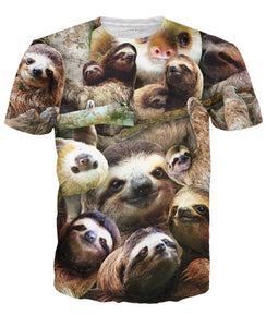 Sloth Collage T-Shirt - Beelat Sydney