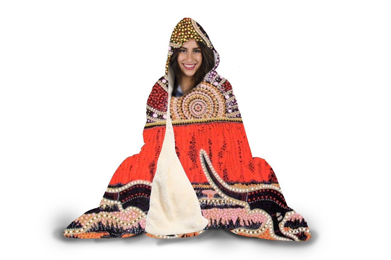 Kangaroo Land Hooded Blanket - Beelat Sydney