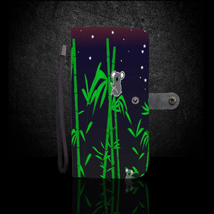 Koala in Aboriginal Art Style Wallet Phone Case - Beelat Sydney