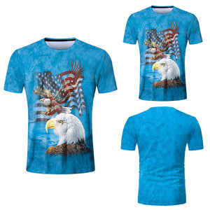American flag Mens fashion 3D printing T-Shirt - Beelat Sydney