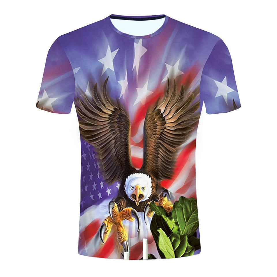 An Eagle and a flag 3D printing Tees - Beelat Sydney