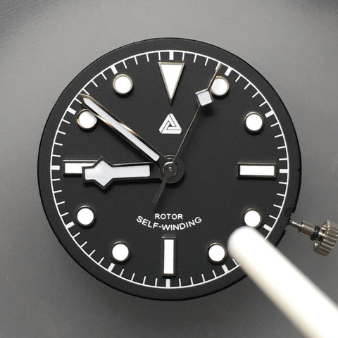 Removing dirts and dusts off the watch dial and case - [TUTORIAL] How To Modify Your SEIKO Watch - Dial and Hands by Lucius Atelier