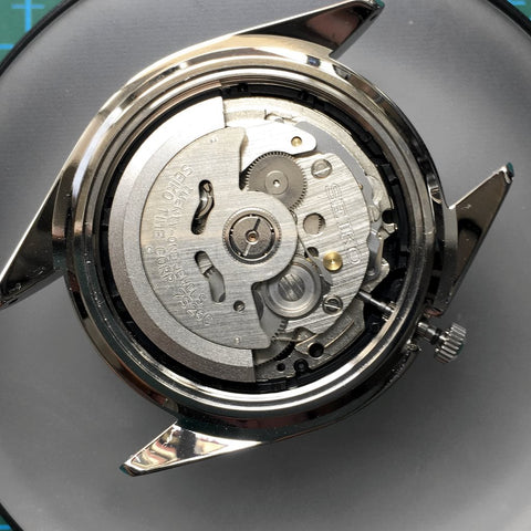 Putting the movement back into the case - [TUTORIAL] How To Modify Your SEIKO Watch - Dial and Hands by Lucius Atelier