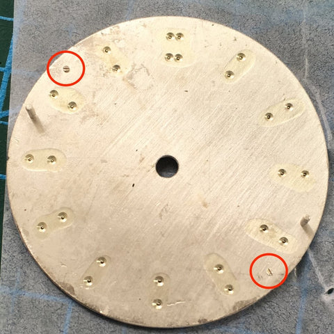 after removal of two dial legs