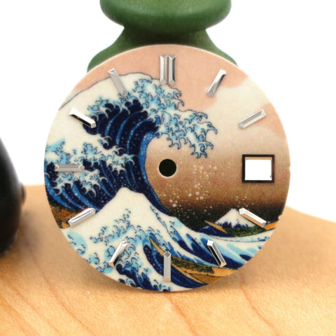 100% Swiss Super-LumiNova BGW9 The Great Wave off Kanagawa Dial | SEIKO Mod Parts by Lucius Atelier