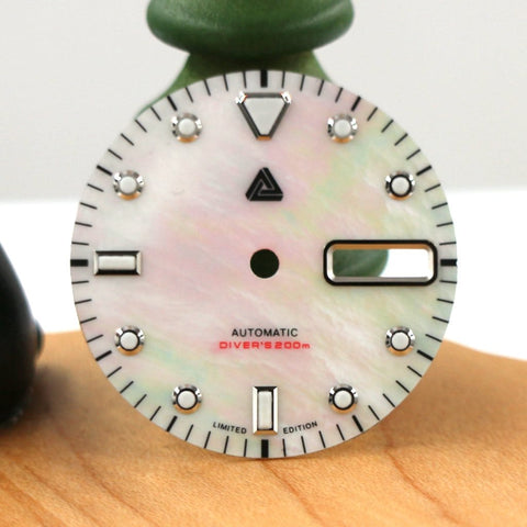 Highest Grade AAA Mother of Pearl Diver's Dial (Day Date) - SEIKO Mod Part by Lucius Atelier