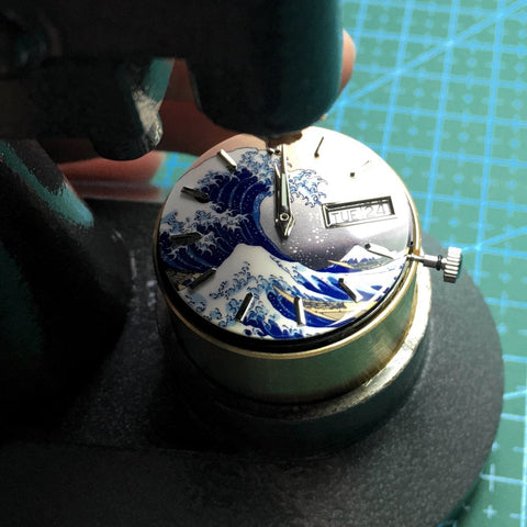 SEIKO 7S26 Movement Holder designed for Bergeon Professional Hand Setter Tools - Lucius Atelier