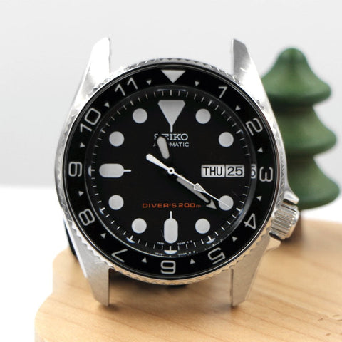 SKX013 BGW9 Lumed Sapphire Bezel Insert - Black Dual Time by Lucius Atelier | SEIKO Mod Parts