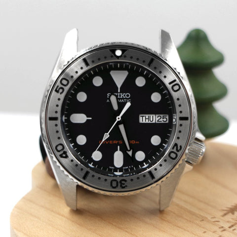 SKX013 Lumed Steel Bezel Insert - Black SKX - SEIKO Mod Part by Lucius Atelier