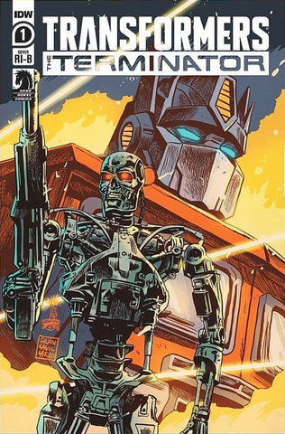 Transformers vs. Terminator #1 - 1:25 Ratio Variant - Francesco Francavilla