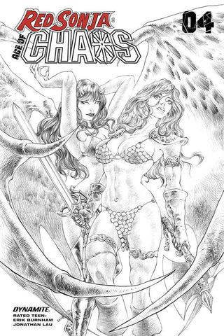 Red Sonja: Age of Chaos #4 - 1:7 Ratio Sketch Variant - Alan Quah