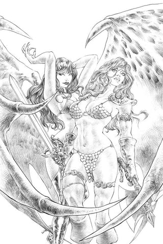 Red Sonja: Age of Chaos #4 - 1:11 Ratio Sketch Virgin Variant - Alan Quah