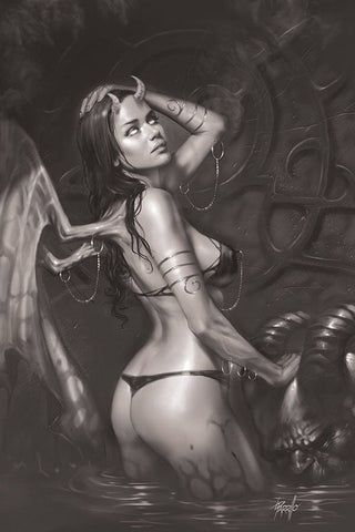 Red Sonja: Age of Chaos #4 - 1:15 Ratio B&W Virgin Variant - Lucio Parrillo