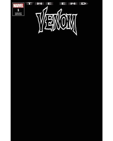 VENOM : THE END #1 BLACK BLANK EXCLUSIVE