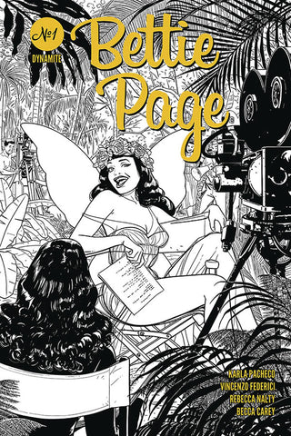 Bettie Page #1 - 1:10 Ratio B&W Variant - Kano