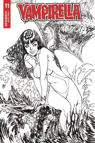 Vampirella #11 - 1:35 Ratio B&W Virgin Variant - Guillem March
