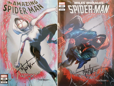 Amazing Spider-Man #59 & Miles Morales: Spider-Man #23 - CK Exclusive - SIGNED Trade Dress Set - Tyler Kirkham