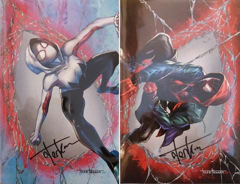 Amazing Spider-Man #59 & Miles Morales: Spider-Man #23 - CK Exclusive - SIGNED Virgin Set - Tyler Kirkham