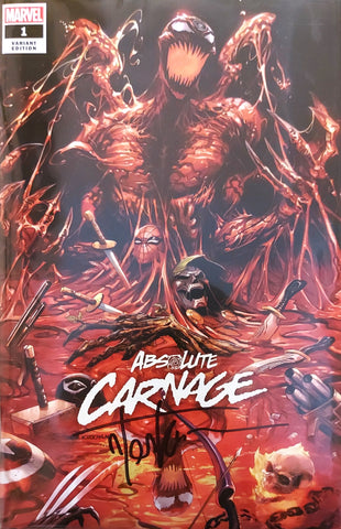 Absolute Carnage #1 - Exclusive Variant - SIGNED - Tyler Kirkham