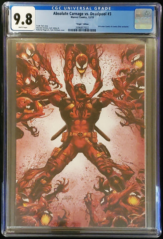 Absolute Carnage vs. Deadpool #3 - Virgin Cover - CGC Graded 9.8 Slab - Tyler Kirkham