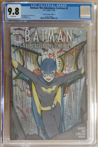 Batman: The Adventures Continue #5 - CK Shared Exclusive - Cover A - CGC 9.8 Graded Slab - Peach Momoko