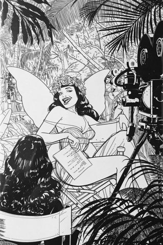 Bettie Page #1 - 1:25 Ratio B&W Virgin Variant - Kano