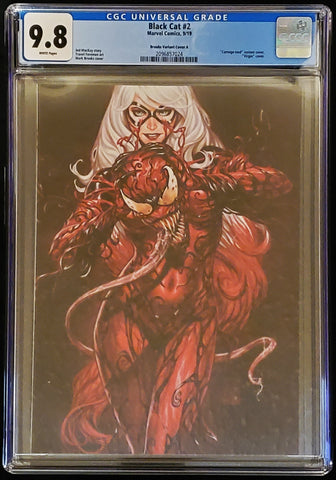 Black Cat #2 - Virgin Variant - CGC Graded 9.8 Slab - Mark Brooks