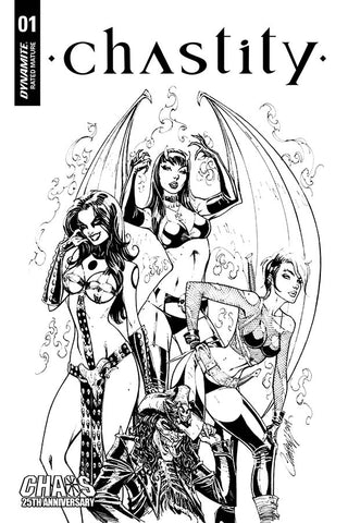Chastity #1 - 1:50 Ratio B&W Variant - J. Scott Campbell
