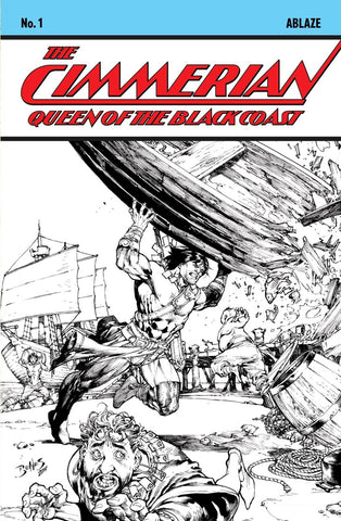 Cimmerian: Queen of the Black Coast #1 - 1:10 Ratio Variant - Ed Benes