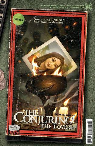 Copy of DC Horror Presents The Conjuring: The Lover #1 - Cover B - VHS Tribute Card Stock - 06/01/21 - Ryan Brown