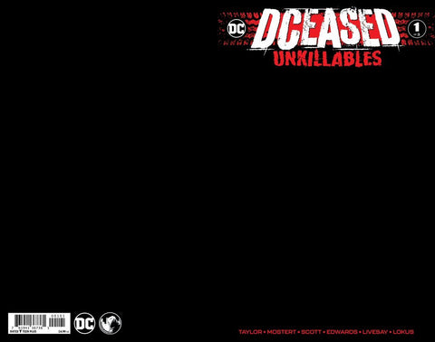DCeased: Unkillables  #1 - Exclusive Variant - Black Blank