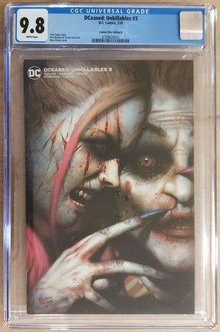 DCeased: Unkillables #3 - Exclusive Variant - Cover B - CGC 9.8 Graded Slab - Ryan Brown