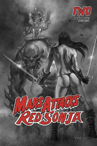 Mars Attacks Red Sonja #2  - 1:10 Ratio B&W Variant - Lucio Parrillo