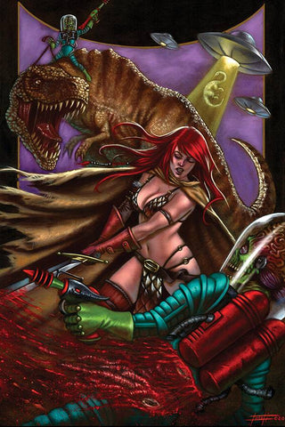 Mars Attacks Red Sonja #2  - 1:30 Ratio Virgin Variant - Luca Strati
