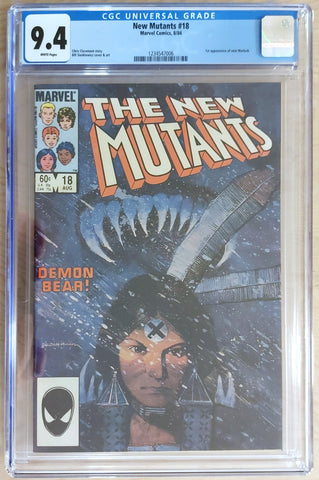 New Mutants #18 - CGC 9.4 Graded Slab - Bill Sienkiewicz