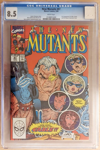 New Mutants #87 - CGC 8.5 Graded Slab - Rob Liefeld & Todd McFarlane